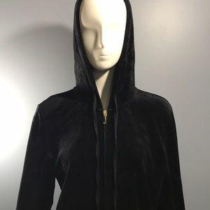 Juicy Couture Full Zip Hoodie Size XL Black
